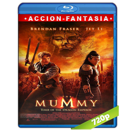 La Momia 3 La Tumba Del Emperador Dragon (2008) BRRip 720p Audio Trial Latino-Castellano-Ingles 5.1