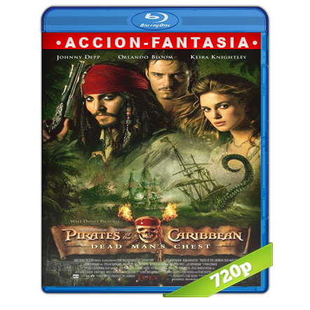 Piratas Del Caribe 2 El Cofre De La Muerte (2006) BRRip 720p Audio Trial Latino-Castellano-Ingles 5.1