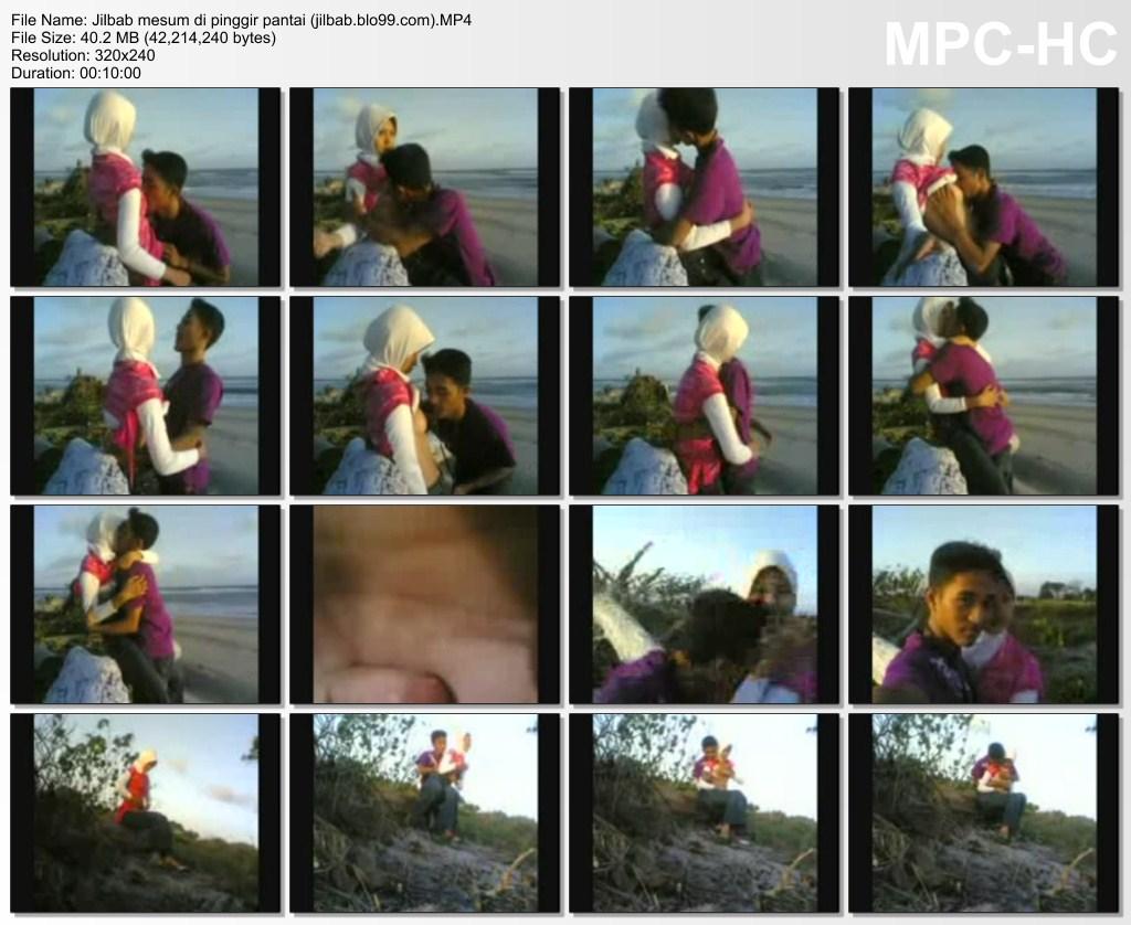 Jilbab Putih Mesum Di Pantai - free