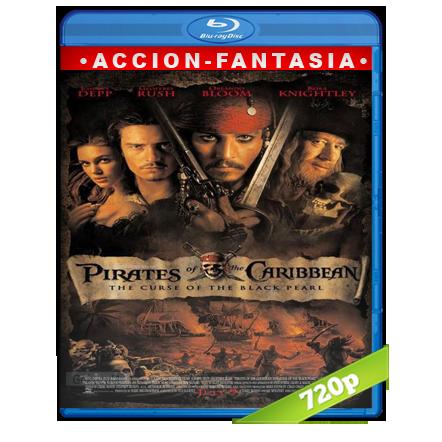 Piratas Del Caribe 1 La Maldicion Del Perla Negra (2003) BRRip 720p Audio Trial Latino-Castellano-Ingles 5.1