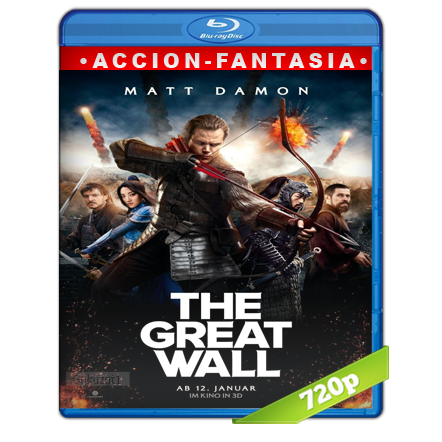 La Gran Muralla (2016) BRRip 720p Audio Trial Latino-Castellano-Ingles 5.1