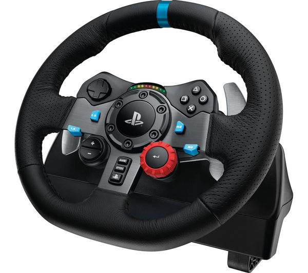 d5938e9c5f0 Enhance your PC and console racing games with the Logitech Racing Wheel &  Gearstick Bundle.