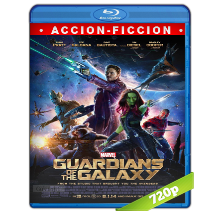 Guardianes De La Galaxia (2014) BRRip 720p Audio Trial Latino-Castellano-Ingles 5.1