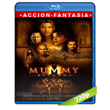 descargar La Momia 2 Regresa 720p Lat-Cast-Ing 5.1 (2001) gartis