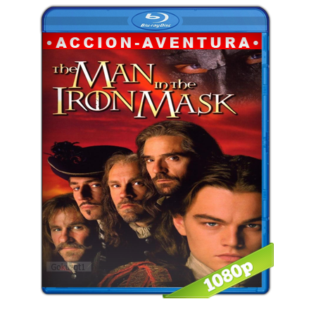 El Hombre De La Mascara De Hierro (1998) BRRip Full 1080p Audio Trial Latino-Castellano-Ingles 5.1