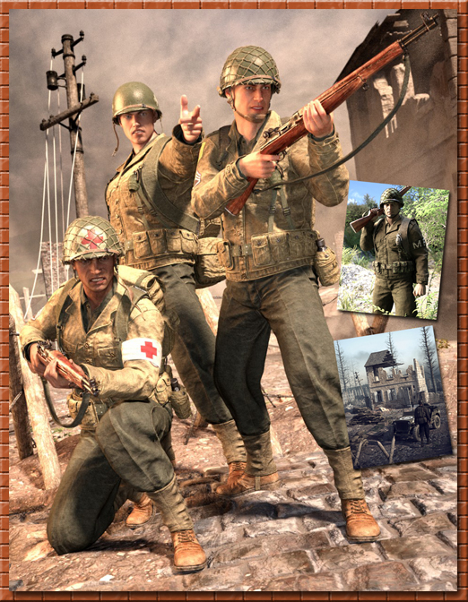 WW2 Soldier HD Bundle for G8M
