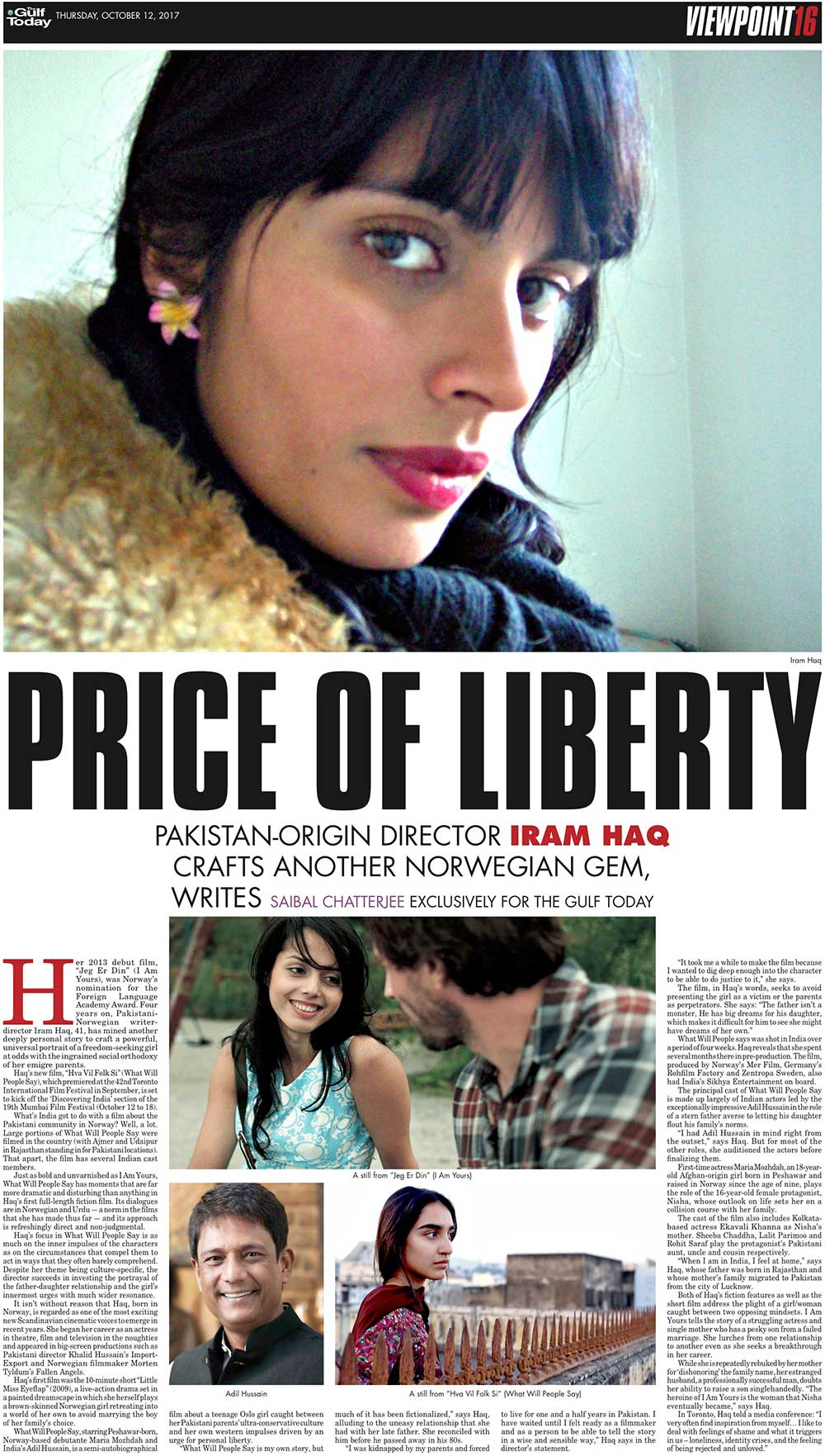 Gulftoday price of liberty her 2013 debut film jeg er din i am yours was norways nomination for the foreign language academy award four years on pakistani norwegian ccuart Choice Image