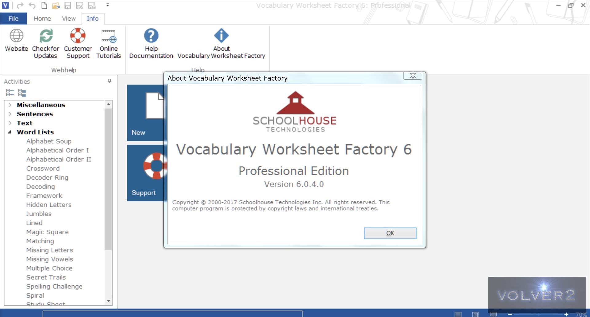 Vocabulary Worksheet Factory Professional 6040 Preactivado – Worksheet Factory